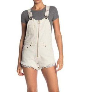 NWT Free People Sunkissed Denim Short Overalls